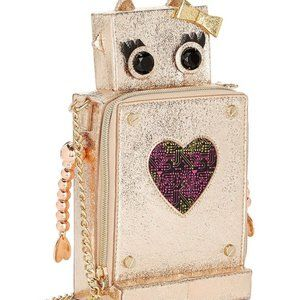 Betsy Johnson Robot Love Purse